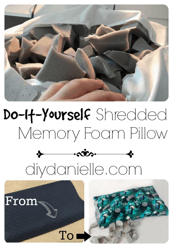 Easy to make shredded memory foam pillow.