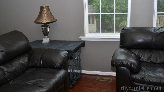 Dog Crate to Side Table: Simple Family Room Update