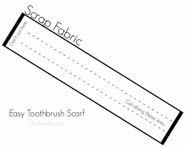 Diagram for cutting your scrap fabric.