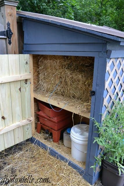 Duck House with Attached Storage