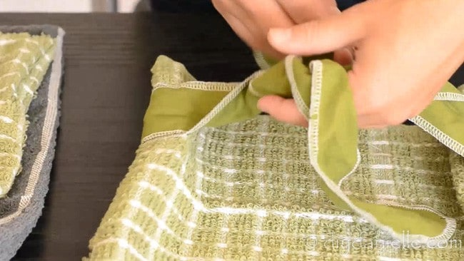 Ribbon to close a DIY bread bag.