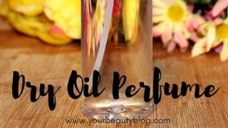 diy dry oil perfume spray recipe