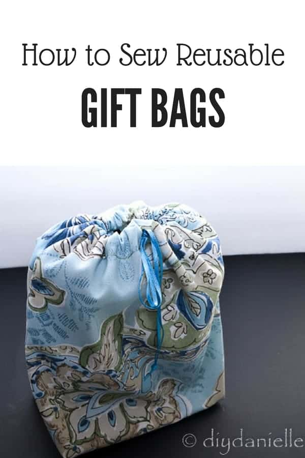 How to sew reusable gift bags. These easy to make gift bags are perfect for Christmas, birthdays and more!