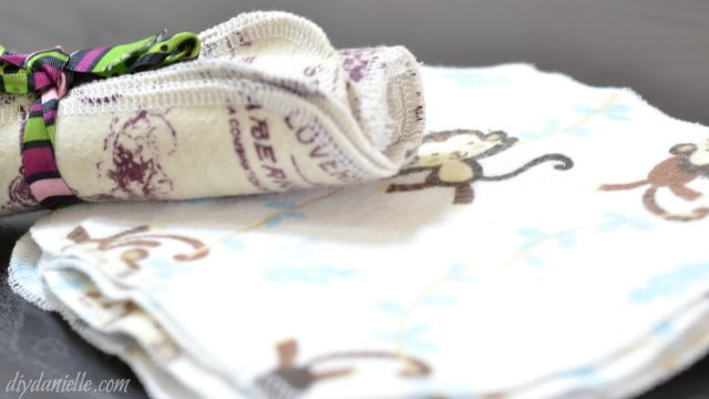 sewing cloth wipes napkins