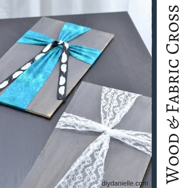 Easy wood and fabric crosses. Make these for decor or gifts.