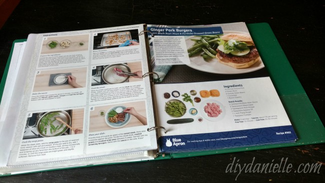 How to Organize Recipes from Blue Apron