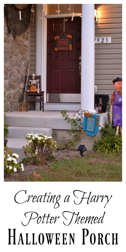 Harry Potter themed Halloween Porch DIY Decorations