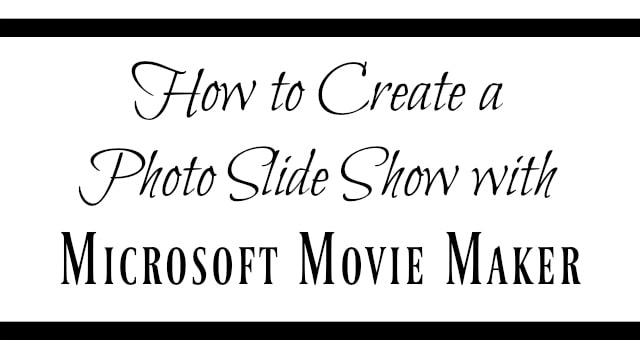 microsoft movie maker tutorial