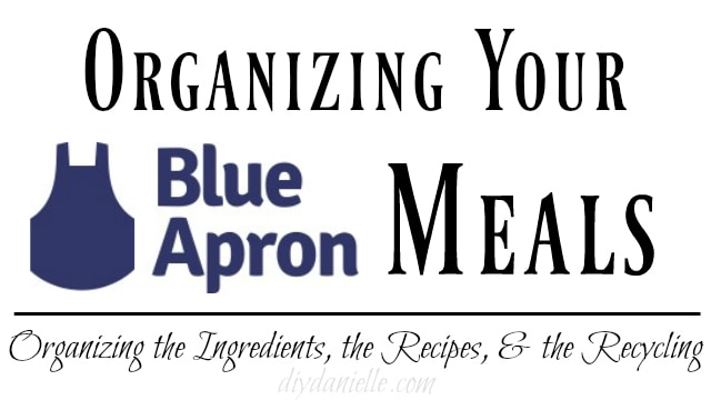 organizing blue apron
