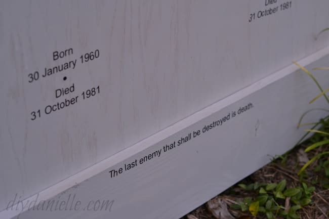 DIY Grave