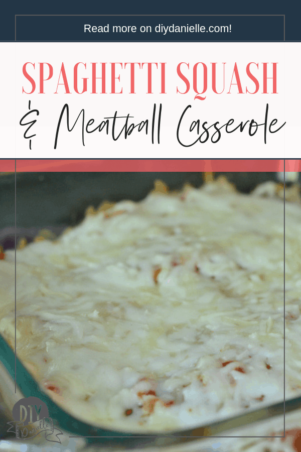 Easy spaghetti squash and meatball casserole.