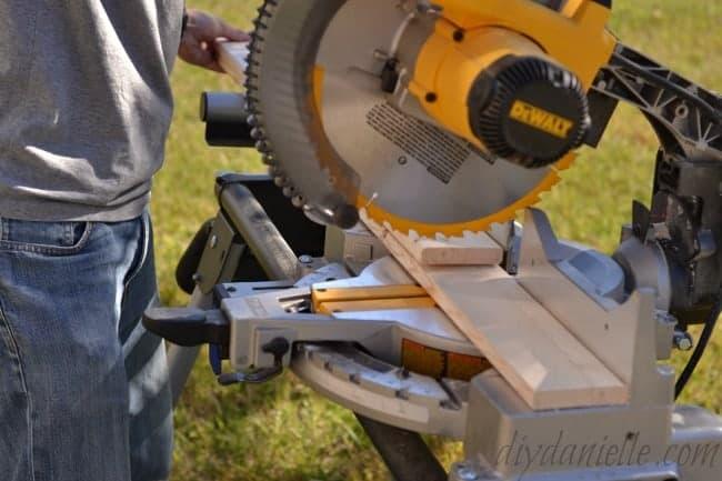 Cutting Wood.