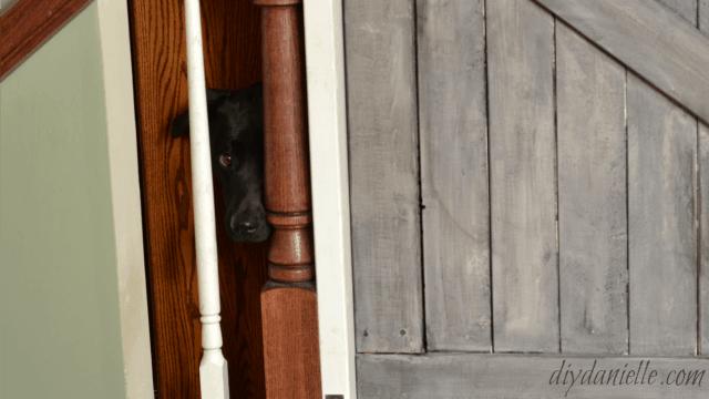 DIY Farmhouse Style Pet Gate