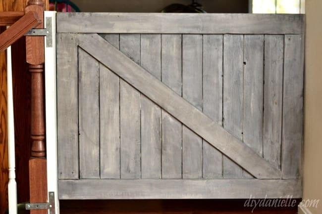 How to Build a DIY Farmhouse Style Dog Gate