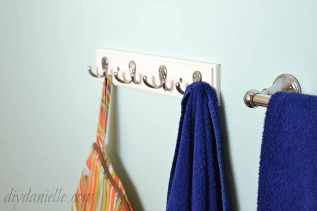 Coat hangers are good for hanging towels and wet bags.
