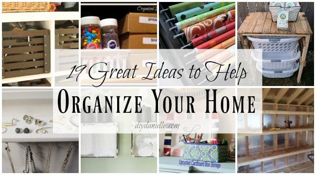 ideas organize home