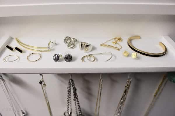 Jewelry Organization in Closet
