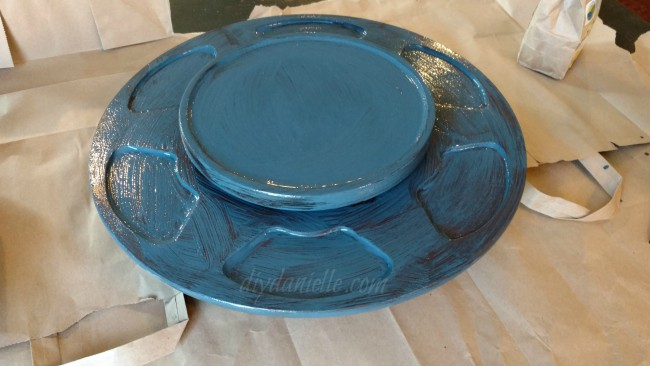 One coat of Soldier Blue Old Fashioned Milk Paint