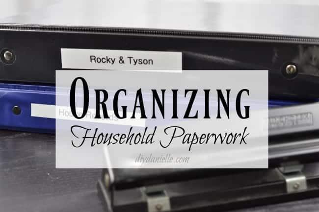 organizing household paperwork