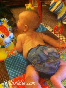 Easy DIY Cloth Diaper from an Upcycled Shirt
