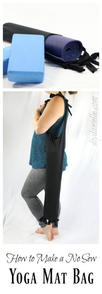 DIY Yoga Mat Bag: No Sew from Old Yoga Pants