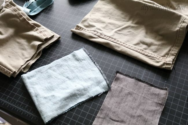 Sew or serge the replacement patch right sides together.