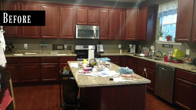 Before picture of kitchen.