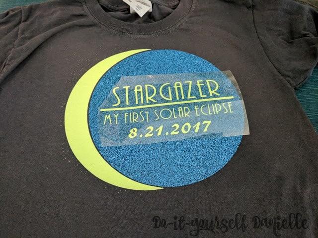 Solar eclipse shirts: adding wording