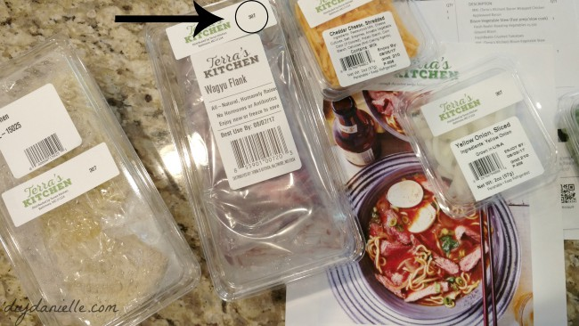 Identifying which Terra's Kitchen boxes go to which meals is easy- they're labeled with numbers on each container.