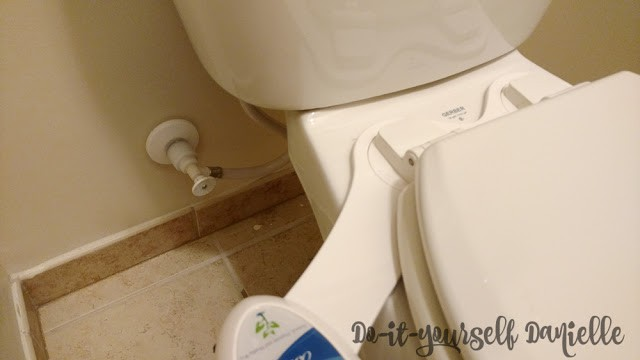Turn off water before installing the pipes for the bidet sprayer.