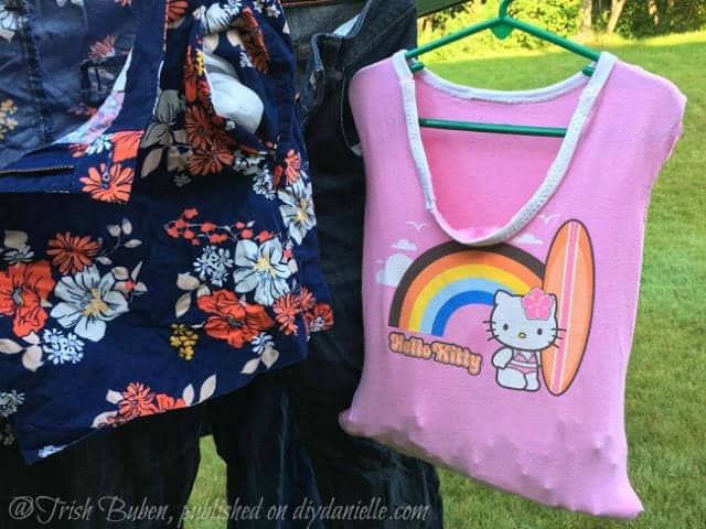 How to Make an Easy Clothespin Bag from an Upcycled Children's Shirt