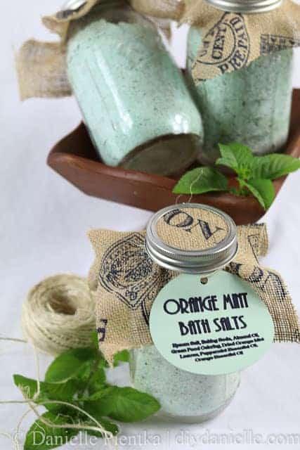 Simple Orange Mint Bath Salt Recipe