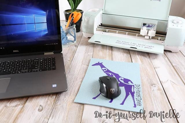 DIY Yoga Mat Mouse Pads
