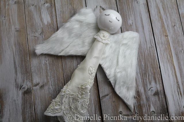 DIY Christmas Tree Angel with Upcycled Materials