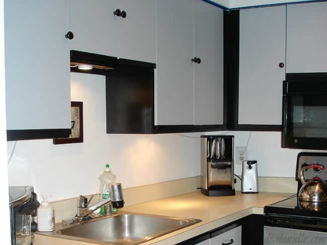 small kitchen painted laminate cabinets idea