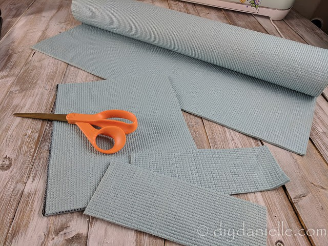 Repurposing an old yoga mat.