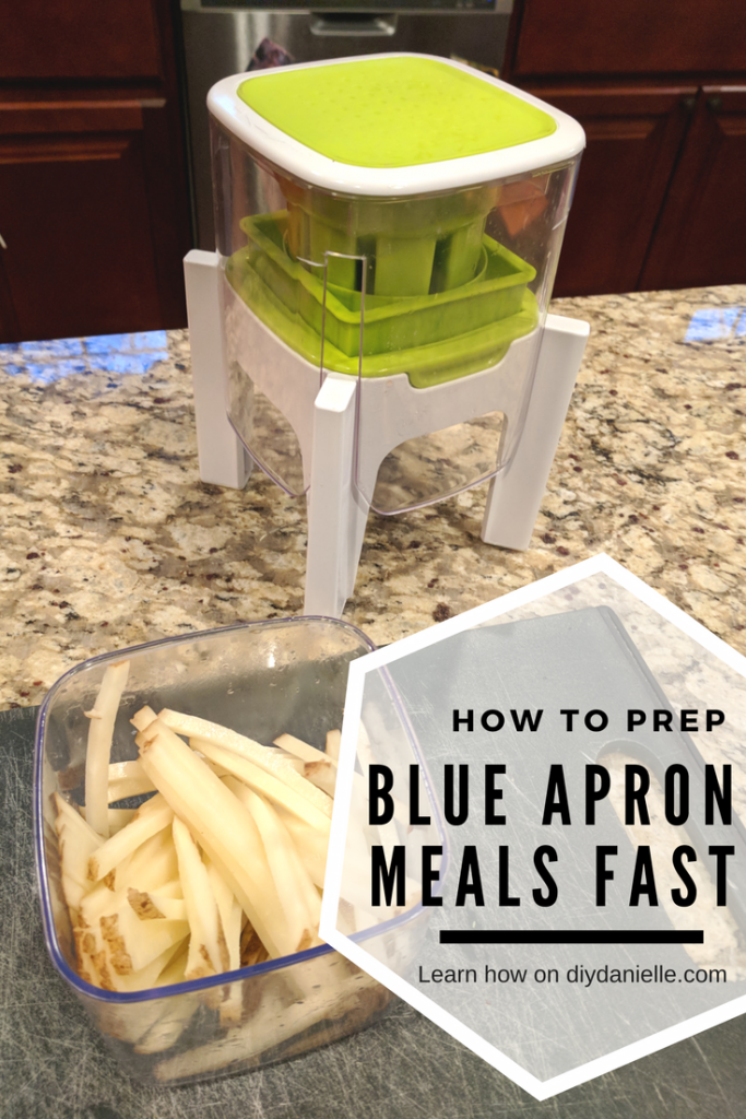 Use the right tools to prep food faster for Blue Apron meals.