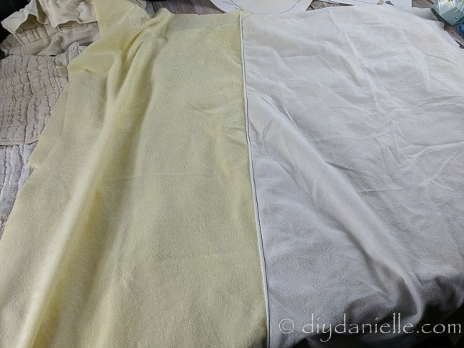 Alova suedecloth as an alternative to fleece for the top of guinea pig cage liners.