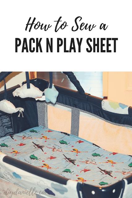 Easy Graco Pack N Play playard sheet sewing tutorial.