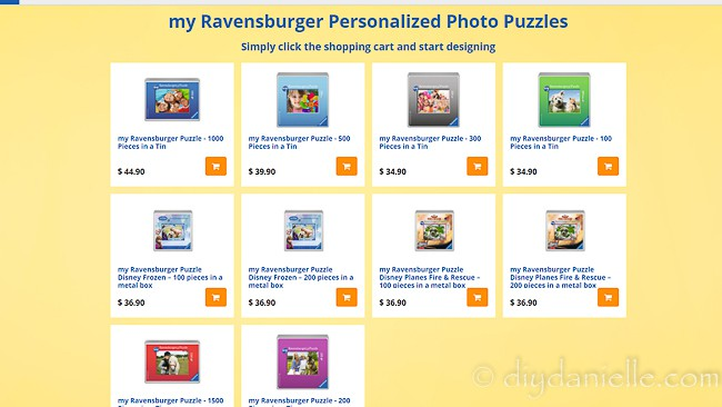 Ordering a photo puzzle online from Ravensburger.