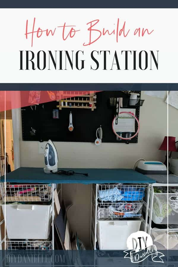 How to make an ironing station for your sewing room.