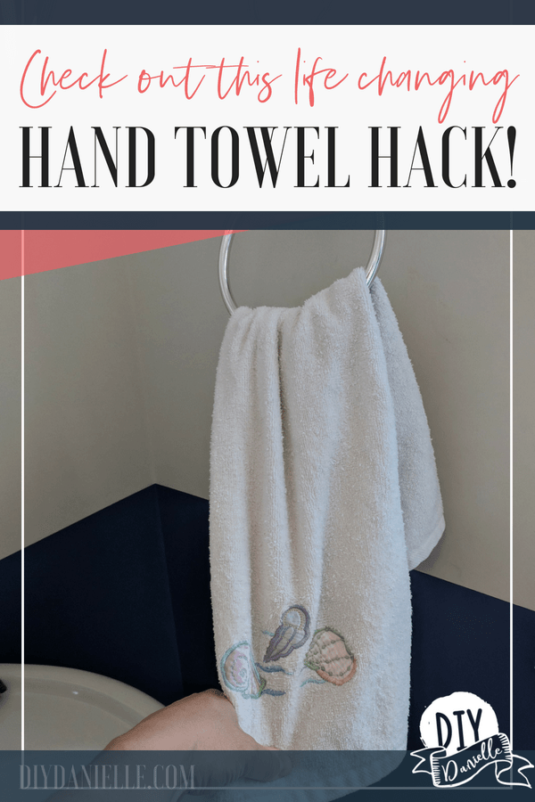 This hand towel hack will CHANGE YOUR LIFE. Keep those hand towels off the floor for less than 10 cents!