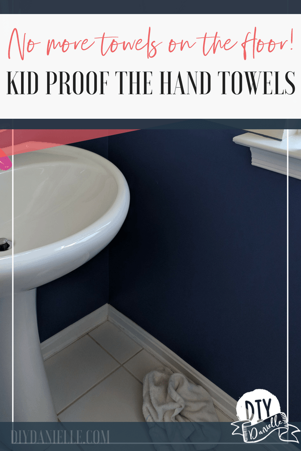 This easy, cheap fix is a game changer for keeping hand towels off the floor! And it will only take you 5 minutes!