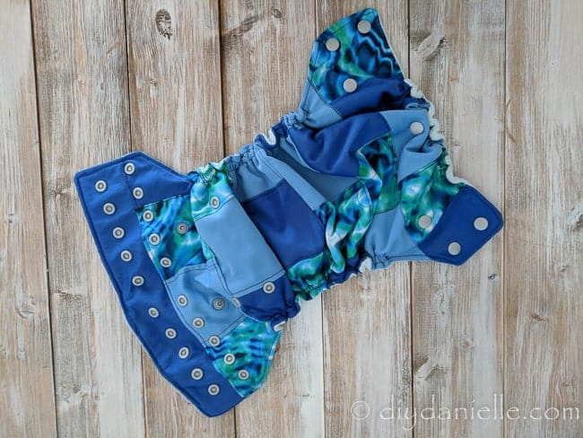 How to sew a scrappy cloth diaper. This is a great use for small scraps of PUL.