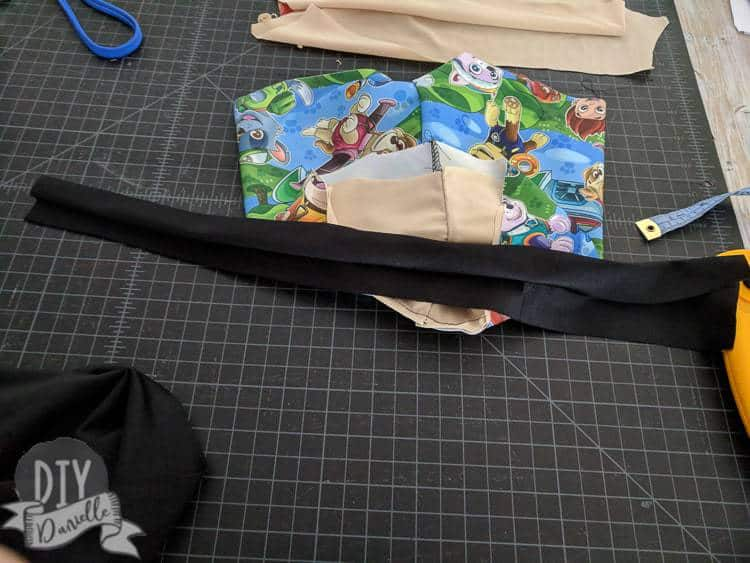 Waistband to be added to the Paw Patrol swim shorts.