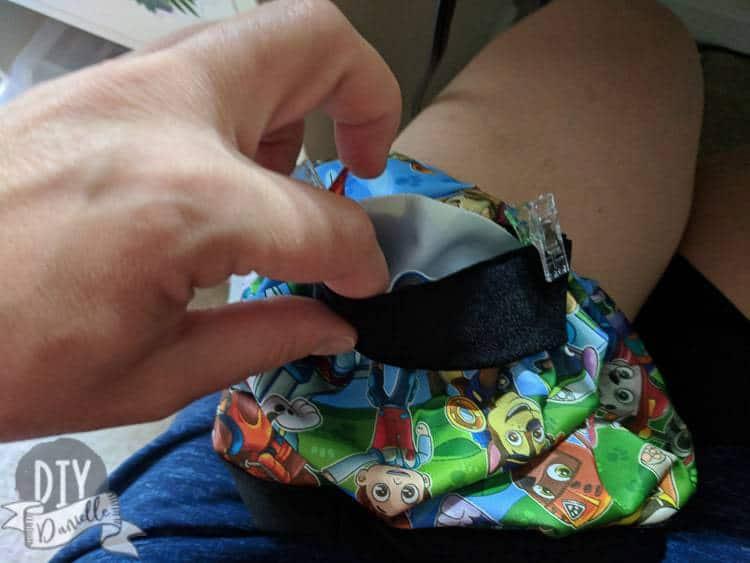 Adding leg bands to the swim shorts.