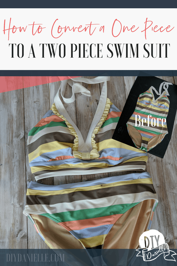DIY One Piece to Two Piece Swim Suit. This easy conversion requires no supplies!