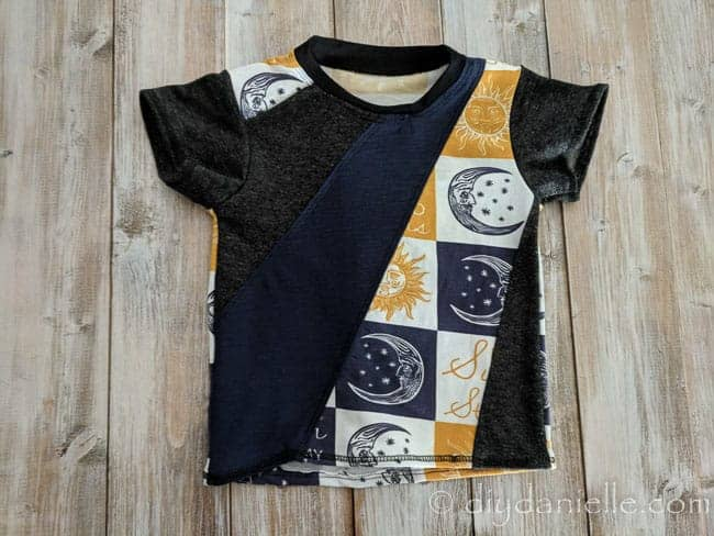 Baby Taylor Tee made with scrap knit fabric.