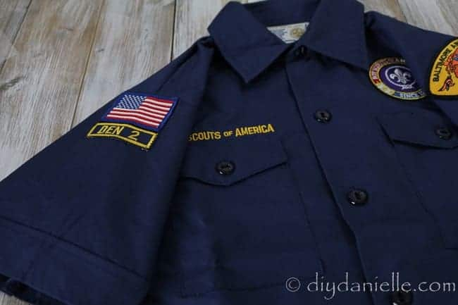 how apply boy scout patches  of