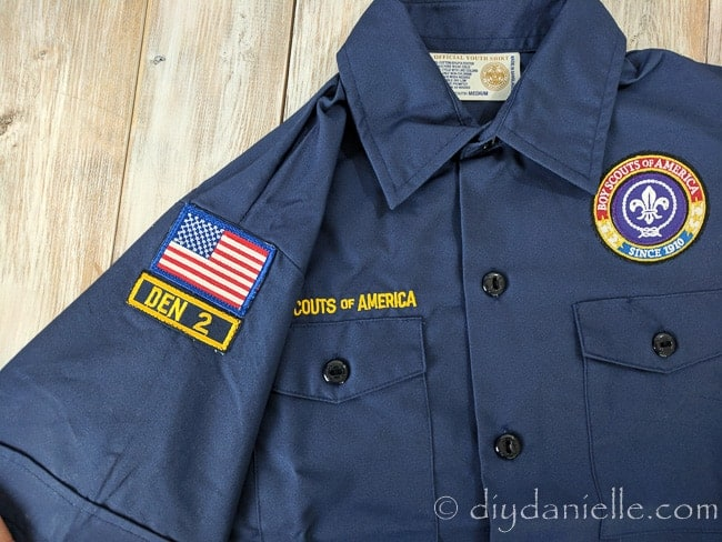 How to sew Boy Scout patches on a uniform shirt.